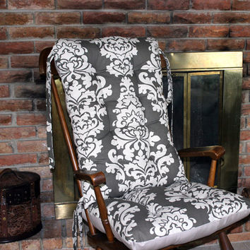 Custom Berlin Linen Rocking Chair Cushions, Glider Replacement Pads, Rocker Cushions, Wooden Rocking Chair Pads