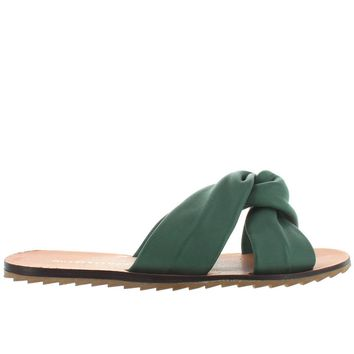 Musse & Cloud Valentine - Blue Twist Knot Flat Slide Sandal