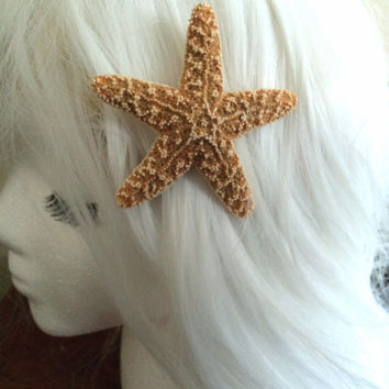 Starfish hairclip, mermaid accessory