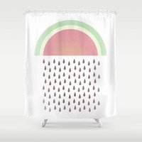 Raining Seeds Shower Curtain by ItsJessica
