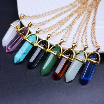 Natural Stone Crystal Necklaces