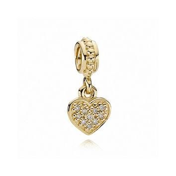 PANDORA Diamond Brilliant Heart Charm 1/15ctw