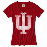 Indiana Hoosiers V-Neck T-Shirt