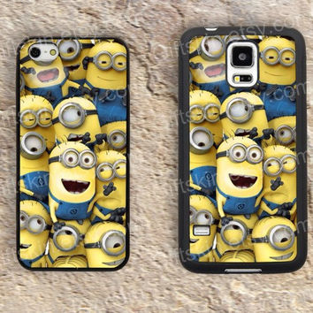 Cartoon despicable me iphone 4 4s iphone  5 5s iphone 5c case samsung galaxy s3 s4 case s5 galaxy note2 note3 case cover skin 134