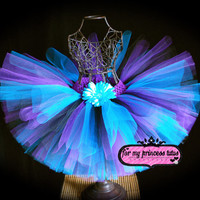 Turquoise, Purple, & Black Tutu - for baby, infant, dance, dress up, flower girl, pageant, wedding, photo props, baby shower, gift, birthday