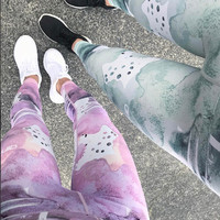 Sportswear Hot Sale Summer Women's Fashion Print Stylish Sports Leggings [10544456263]