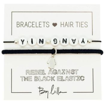 Yin Yang Elastic Hair Tie and Bracelet By Lilla