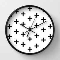 Swiss Cross Wall Clock by Sara Eshak | Society6