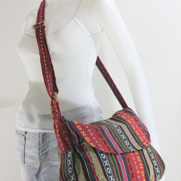 USA SHIPPING** Handbag Hippie Hobo Crossbody Messenger Boho Bag Hmong Camera Purse Nepali Cotton E-HMM17
