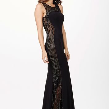 JVN by Jovani JVN33475 Stunning Sleeveless Beaded Prom Dress