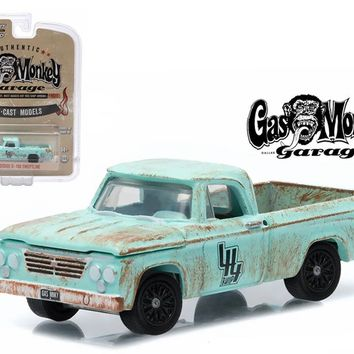 1964 Dodge D 100 Sweptline Gas Monkey Garage 1/64 Diecast Model by Greenlight