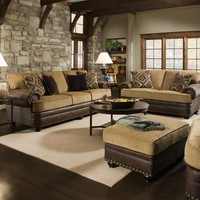 7541 - The Lattimer Living Room Set - Chocolate