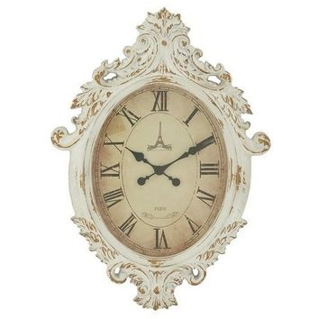 Baroque White Wall Clock