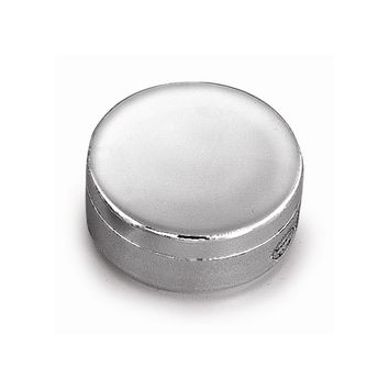 Nickel-plated Round Jewelry Box - Engravable Personalized Gift Item