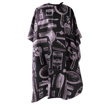 Haircut Hairdressing Cape Cloth Apron Hair Styling Cape Salon Equipment With Buttons and Haircut Tools Design