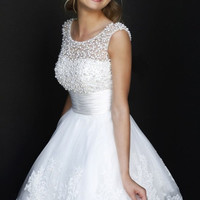 New 2015 white short wedding dresses customize prom dress sexy lace bridal gown bride dress vestido de noiva romantic wedding dress = 1930012932