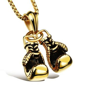 Champion Boxing Gloves Necklace