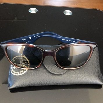 Mint Ray-Ban Unisex Sunglasses with Brown Frame and Green Classic Lens