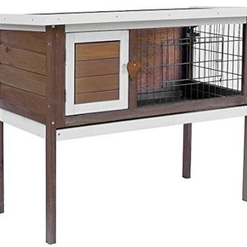 Merax Pet Rabbit Bunny Wood Hutch House (NO.3)