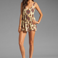 One Teaspoon Peace Train Cali Tank Romper in Paisley from REVOLVEclothing.com