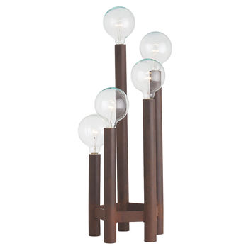 Table Lamp, Webster 5-Light Torchiere, Rust, Table Lamps