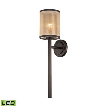 57023/1-LED Diffusion 1 Light LED Wall Sconce In Oil Rubbed Bronze - Free Shipping!