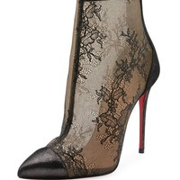Christian Louboutin Gipsybootie Lace Red Sole Ankle Boot