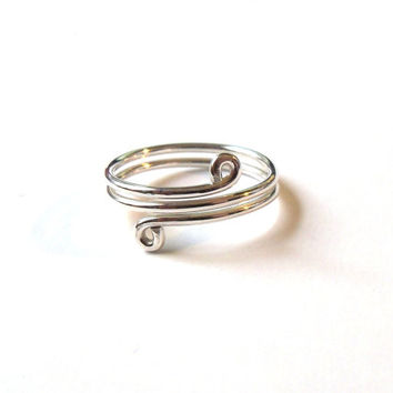 Sterling Silver Wire Wrap Vine Ring