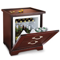 Man Table Mini Refrigerator End Table