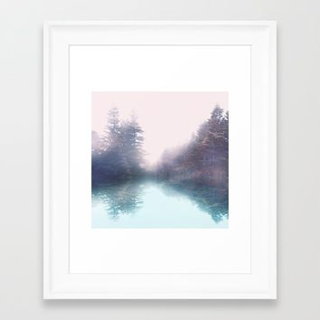 Calm reflexion Framed Art Print by vivianagonzalez