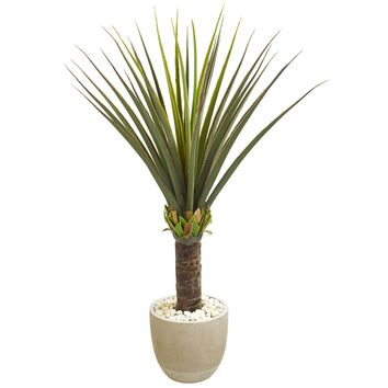 Artificial Plant -Agave Plant with Sandstone Planter