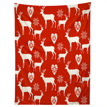 Natt Christmas Deer Tapestry
