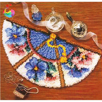 Handmade carpet Latch hook rug kits crochet hooks cross-stitch Wool for felting Knitting needles Stitch thread Carpet embroidery