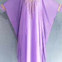 Light Purple Moroccan Dubai Abaya Maxi Caftan Dress, Very Fancy Sequin Caftan Dress, Plus Size Caftan Maxi Dress, Maxi Kaftan Gowns Dresses