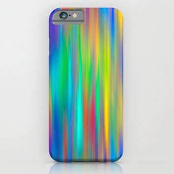 Rainbow Stripes abstract art iPhone & iPod Case by Art64 | Society6