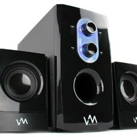 NEW! VM Audio VMCS21 300 Watt 2.1 Home/Computer Speakers Multimedia System