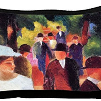 Rikki Knight August Macke Art Promenade Ii Neoprene Pencil Case (dky-Neo-pc3191)