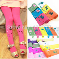 Free shipping new 2015 Baby girl child kids female pantyhose stocking velvet hello kitty cat dance legging 11 colors