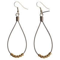 I liked this design on #Fab. Guitar String Teardrop Earrings