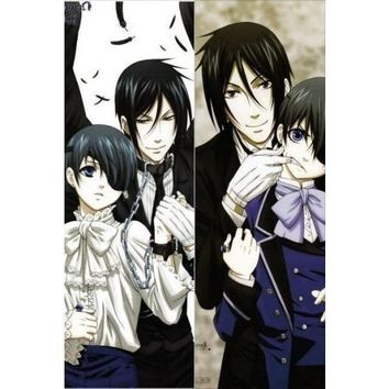 New Black Butler Anime Dakimakura Japanese Pillow Cover BB3 Male