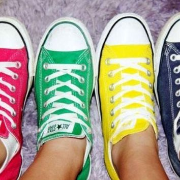 """Converse"" Fashion Canvas Flats Sneakers Sport Shoes  green"