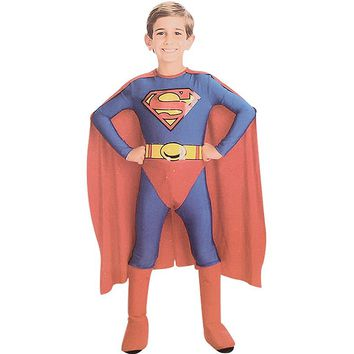[13679] Superman Halloween Kids Costume 3pcs Set