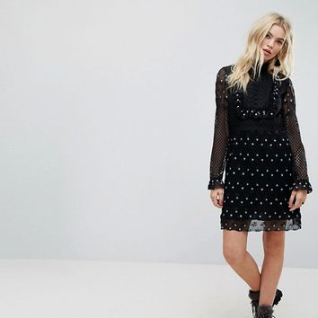 Anna Sui Babydoll Dress in Rosebud Lace at asos.com