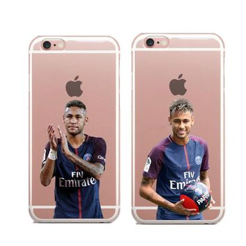 French Paris Saint Germain PSG Cover Case for iPhone 5 5S SE 6 6S 7 Plus Neymar jr Hard Phone Cases For iPhone 8 8 Plus Cover