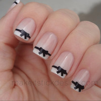 Bow Vinyl  Nail Decals - Set of 20- Nail Stickers