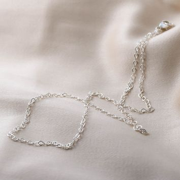 Ultra Thin Sterling Silver Chain Upgrade