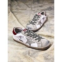 Ggdb Golden Goose Uomo Donna White Grey Star G36d121.s2 Old Dirty Shoes - Sale