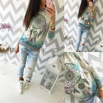 Women Ladies Clothing Long Sleeve Hoodie Sweatshirt Warm Casual Coat Outfits Women Pullover Clothes Tops