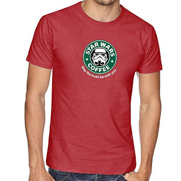 STAR DARTH VADER WAR INSPIRED FUNNY SLOGAN THUMBLR STARBUCKS T SHIRT TOP TEE - Red