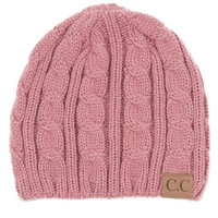 C.C. Knitted Weave Beanie